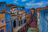 The Blue Rooftops in Jodhpur  the Blue City  Rajasthan  India  Asia