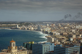 Elevated View over the City and the Malecon Waterfront  Havana  Cuba  West Indies  Caribbean