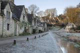 Arlington Row Cotswold Stone Cottages on Frosty Morning  Bibury  Cotswolds