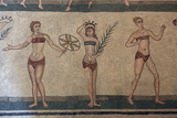 Mosaic  Villa Romana Del Casale  Piazza Armerina  UNESCO World Heritage Site  Sicily  Italy  Europe