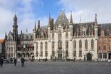 Provinciaal Hoff  Market Square  Bruges  UNESCO World Heritage Site  Belgium  Europe
