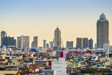 Bangkok Skyline Seen from the Golden Mount (Wat Saket)  Bangkok  Thailand  Southeast Asia  Asia