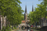 Canal Scene with Bridge  Delft  Holland  Europe