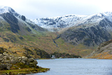 A View of Llyn (Lake) Ogwen in Snowdonia National Park  Gwynedd  Wales  United Kingdom  Europe