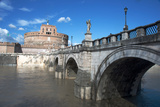 The Ponte San Angelo and Hadrian's Tomb  UNESCO World Heritage Site  Rome  Lazio  Italy  Europe