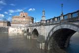 The Ponte San Angelo and Hadrian's Tomb  UNESCO World Heritage Site  Rome  Lazio  Italy  Europe