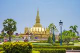Pha That Luang Golden Stupa  Vientiane  Laos  Indochina  Southeast Asia  Asia
