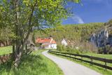 St Georg Chapel  Kaeppeler Hof  Thiergarten  Danube Valley in Spring  Upper Danube Nature Park