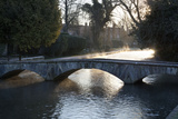 Cotswold Stone Bridge over River Windrush in Mist  Bourton-On-The-Water  Cotswolds