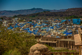 The View from Mehrangarh Fort of the Blue Rooftops in Jodhpur  the Blue City  Rajasthan