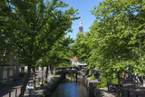 Canal Scene in Edam  Holland  Europe