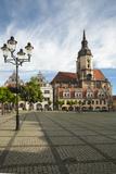 Town Square  St Wenceslas Parish Church  Naumburg  Saxony-Anhalt  Germany  Europe