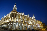 The Gran Teatro (Grand Theater) Illuminated at Night  Havana  Cuba  West Indies  Caribbean