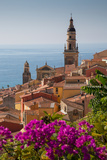 View of Medieval Menton and Basilique Saint Michel  Alpes-Maritimes  Cote D'Azur