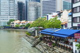 Quayside Restaurants in Boat Quay  Singapore  Southeast Asia  Asia