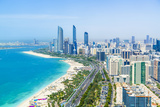 Skyline and Corniche  Al Markaziyah District  Abu Dhabi  United Arab Emirates  Middle East