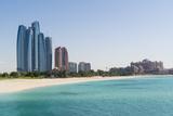 Etihad Towers  Emirates Palace Hotel and Beach  Abu Dhabi  United Arab Emirates  Middle East