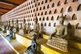 Buddha Statues Inside Wat Si Saket (Wat Sisaket) Temple  Vientiane  Laos  Indochina  Southeast Asia