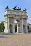 Arco Della Pace  Piazza Sempione  Milan  Lombardy  Italy  Europe