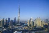 Burj Khalifa and Surrounding Downtown Skyscrapers  Dubai  United Arab Emirates  Middle East