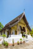 Wat Choumkhong Buddhist Temple  Luang Prabang  Louangphabang Province  Laos  Indochina