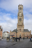 Belfry  Market Place  Bruges  UNESCO World Heritage Site  Belgium  Europe