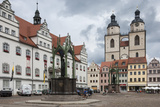 Town Square with Stadtkirke and Town Hall  Staue of Martin Luther  Lutherstadt Wittenberg