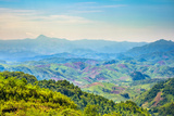 Rolling Hills and Mountains  Lush Rural Landscape  Vientiane Province  Laos  Indochina