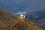Lingzhi Dzong  a Spectacular Site on the Laya-Gasa Trek  Thimpu District  Bhutan  Asia