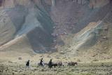 Donkeys and Farmers Make their Way Home Near Band-E Amir  Afghanistan  Asia