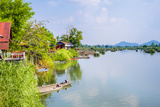 Buildings Along the Mekong River at Don Det  Si Phan Don (Four Thousand Islands)