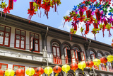 Restored and Colourfully Painted Old Shophouses in Chinatown  Singapore  Southeast Asia  Asia