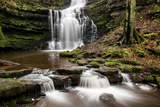 Scaleber Force Waterfall  Yorkshire Dales  Yorkshire  England  United Kingdom  Europe