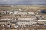 Aerial of Charles De Gaulle Airport  Paris  France  Europe