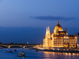 Hungarian Parliament Building and Danube River at Night  UNESCO World Heritage Site  Budapest