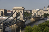 Chain Bridge Seen from Above Clark Adam Square  Budapest  Hungary  Europe