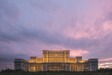 Palace of the Parliament at Sunset  Bucharest  Muntenia Region  Romania  Europe