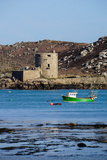 Fishing Boat  Cromwell's Castle on Tresco  Isles of Scilly  England  United Kingdom  Europe