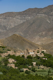 A Village and Terraced Fields of Wheat and Potatoes in the Panjshir Valley  Afghanistan  Asia