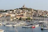 Basilique Notre-Dame De La Garde  Old Port of Marseille Harbour (Vieux Port)  Marseille