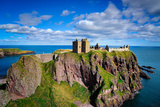 Dunnottar Castle Outside of Stonehaven  Aberdeenshire  Scotland  United Kingdom  Europe