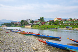 Nam Song River in Vang Vieng  Vientiane Province  Laos  Indochina  Southeast Asia  Asia