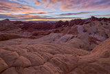 Sunrise over Sandstone Formations  Valley of Fire State Park  Nevada