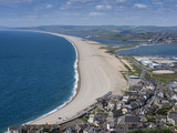 Chesil Beach and the Fleet Lagoon from Portland  Jurassic Coast  UNESCO World Heritage Site