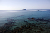 View over the Bull Island Sant'Antioco Sardinia  Italy  Mediterranean  Europe