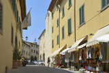 Shops in the Centre of the Old Town  Radda in Chianti  Tuscany  Italy  Europe