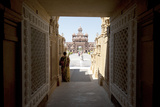 Entrance to the Jain Swaminarayan Temple  Gondal  Gujarat  India  Asia