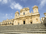 The Cathedral  UNESCO World Heritage Site  Noto  Sicily  Italy  Europe