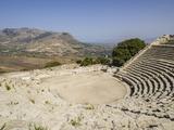 Ampitheatre  Segesta  Sicily  Italy  Europe