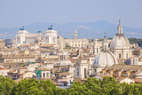 Churches and Domes of the Rome Skyline Showing Victor Emmanuel Ii Monument in the Distance  Rome